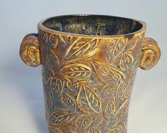 Purple/Blue Leaf Vase - 1.5L