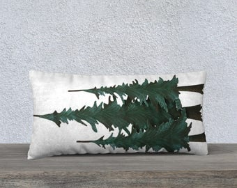 "Pine Trees 24"" x 12"" Pillow Case"