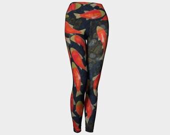 Salmon Run Yoga Leggings