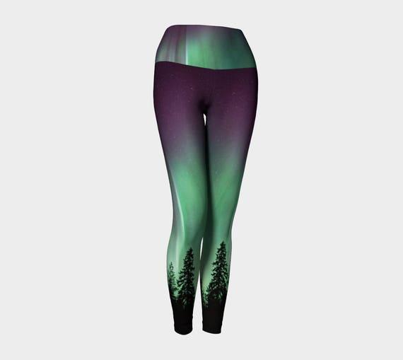 9ace40bbca513 Aurora Borealis Yoga Leggings | Etsy