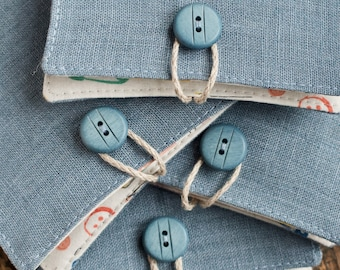 Small Linen Needle Book - sewing accessories
