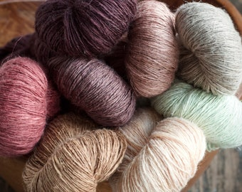 Beautiful linen/cotton yarn -- 100 g
