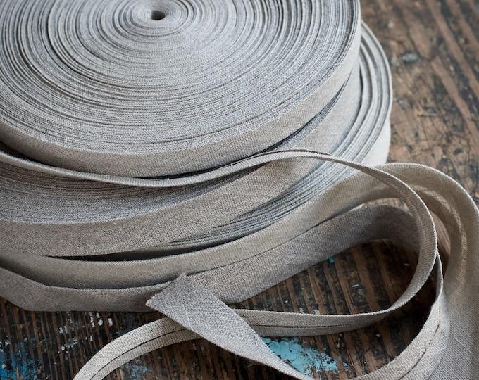 Linen bias tape - Bias binding - natural undyed - width 1.5 cm, 2 cm and 3 cm