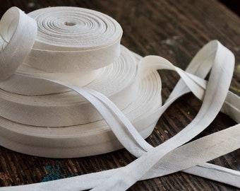 Linen bias tape -- width 2 cm, light and medium weight