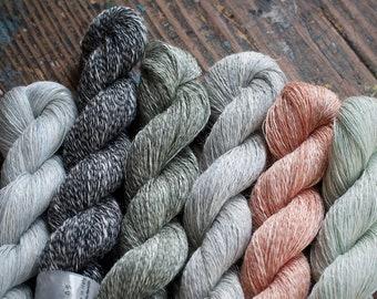 Beautiful linen/silk yarn -- lace -- 50g