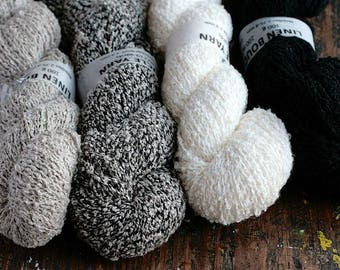 Linen boucle yarn - DK - light worsted