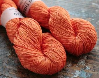 Linen yarn - 5-ply - Light Fingering  -- orange