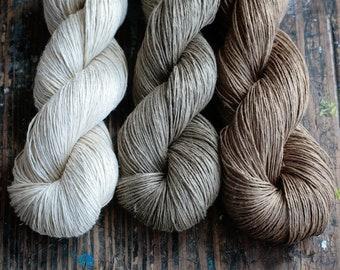 Linen yarn - 5-ply -  Fingering -- narural