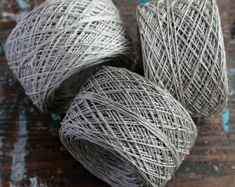 Linen yarn thread -- one ball - natural linen - 3, 4 or 5-ply