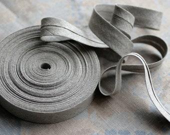 Linen bias tape - natural - width 1.5 cm, 2 cm and 3 cm