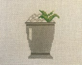 Mint Julep - Hand Painted Needlepoint Canvas