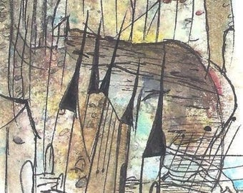 No. 6026B, ACEO Art Cards Editions & Originals ATC Fantasy Landscape by NoRaHzArT