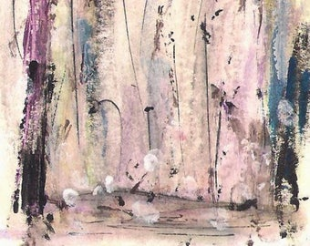 No. A4  ACEO Art Cards Editions & Originals ATC Fantasy Landscape Original Painting by NoRaHzArT