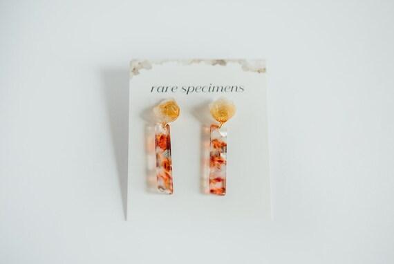 Rare Specimens – Stick Drops – Amber With Citrine