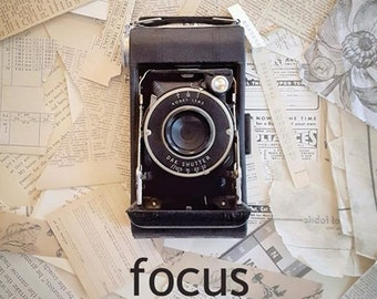 4 postcard set - focus
