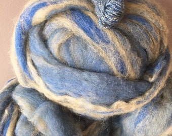 Nebula - appx. 8 ounces - Wool and Mohair Roving