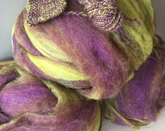 Young Frankenstein - appx. 8 ounces - Wool and Mohair Roving