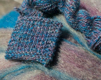 Blue Steel - appx. 8 ounces - Wool and Mohair Roving