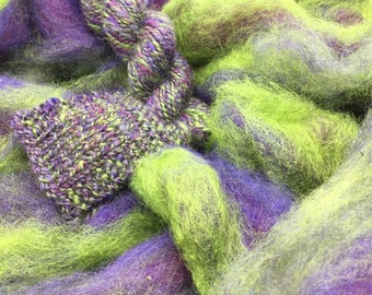 Don't Worry - appx. 8 ounces - Wool and Mohair Roving