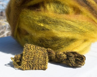 Bees and Honey - appx. 8 ounces - Wool and Mohair Roving