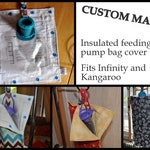 Custom Made Insulated Feeding Pump Bag Cover / IV Bag Cover to keep your feed cool - choose your own print, extras