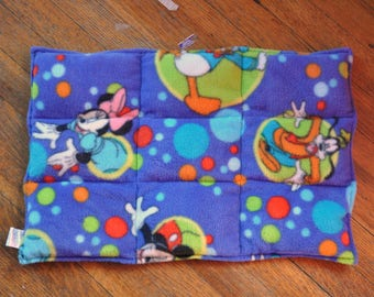 READY TO SHIP Weighted lap pad, Mickey Mouse and Friends, 3 lb. Perfect for schools or therapy offices.