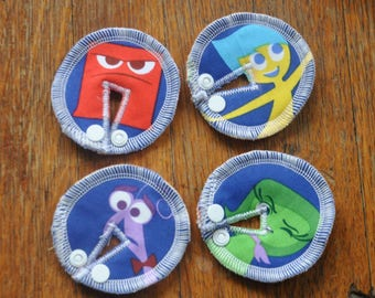 Tubie Button Cushions - Inside Out. Set of FOUR.