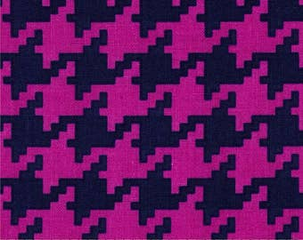 Everyday Houndstooth in Jewel by Michael Miller, sold by HALF YARD.