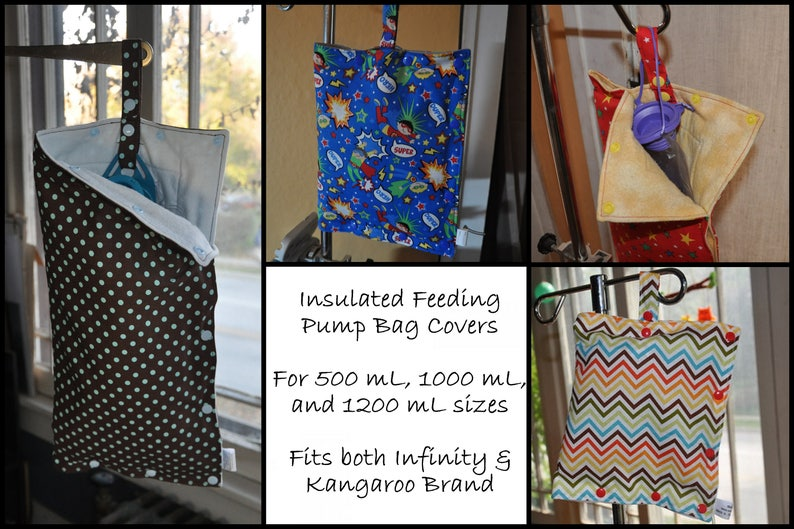 efbac8d4e4f8b Insulated Feeding Pump Bag Covers / IV bag covers keep your feed or  infusion cool. Fits Kangaroo or Infinity, most IV bags. Ready to ship.