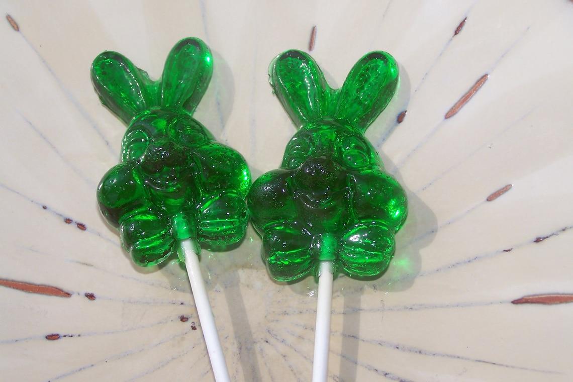 10 Bunny Easter Rabbit Lollipop Sucker Party Candy