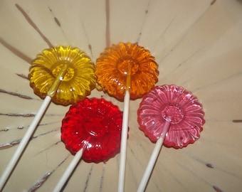 12 Petite Daisy Flower Lollipops Sucker Party Favor Spring Bouquet