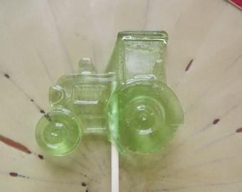 10 Tractors Tractor John Deer Suckers Lollipops Birthday Farm Party Favors