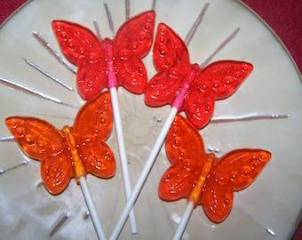 8 Beautiful Butterflies Butterfly LolliPop Suckers Party Favor
