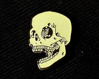 Glow in the Dark Skull Lapel Pin