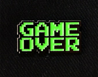 Game Over Lapel Pin