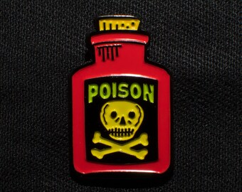 Red Poison Bottle Lapel Pin