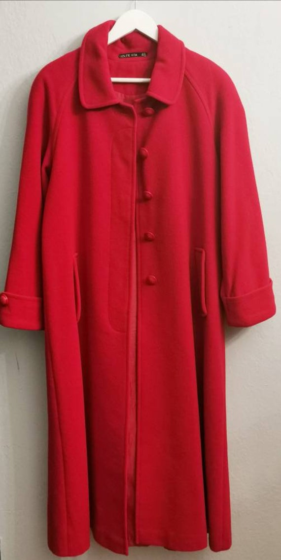 1990s vintage ancora and mohair maxi coat. Vintage