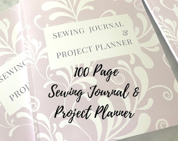 Featured listing image: Sewing Journal & Project Planner - Quilt and Craft Project Planner - Sewing Journal - Sewing Business Planner - 100 Pages