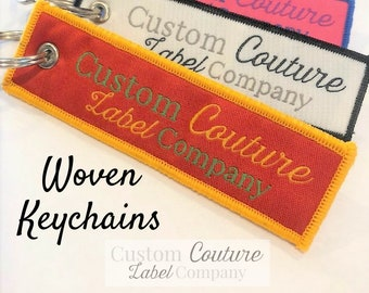 Custom Woven Keychains - Woven Key Rings - Woven Key Chains - Woven Key Fobs - Custom Key Chains - Use Your Own Artwork - Up to 10 Colors