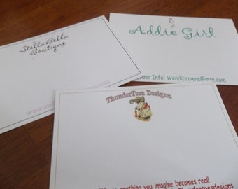 "100 Custom Printed 4"" x 6"" Notecards - Postcards - Hairbow Cards - Professionally Offset Printed - SUPER THICK 15pt CARDSTOCK"