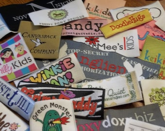 1200 IRON ON Woven Labels - Sewing Tags - Custom Labels - Use Your Own Artwork - Up to 8 Colors - Made in the Usa