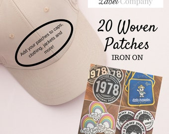 20 Custom Patches - IRON ON  - Your own artwork - Up to 10 Colors