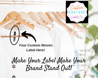 200  Custom Woven Labels - Fashion Brand Labels - Woven Clothing Labels - Your Own Artwork - Up to 8 Colors