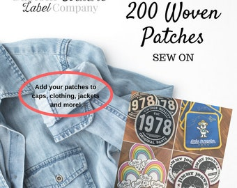 200 Custom SEW ON Patches - Your own artwork - Up to 10 Colors - A USA Company
