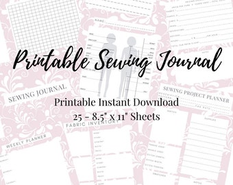 Sewing Planner - Printable PDF Instant Download - Quilt and Craft Project Planner - Sewing Journal - Sewing Business Planner