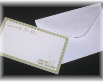 "100 Custom Printed 2.5"" x 3"" Enclosure Cards"