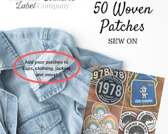 Custom Patches - 50 - SEW ON - Your own artwork - Up to 10 Colors - A USA Company