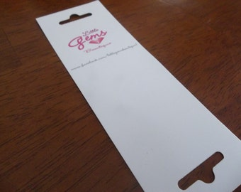 100 Custom Printed  Accessory Cards - Jewelry Display Cards - Holders - Packaging