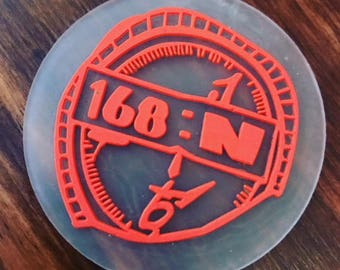 """100 Personalized PVC patches - Custom Rubber Patches - up to 3 colors - up to 3""""x3"""" - Made in USA"""