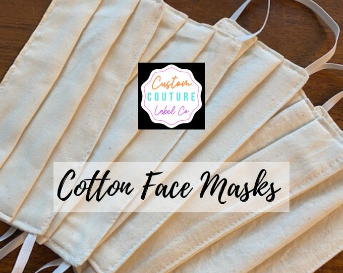 Featured listing image: 3 Layer 100% Cotton Face Mask/Dust Mask/Washable Face Mask/Reusable Face Mask - Adult Size